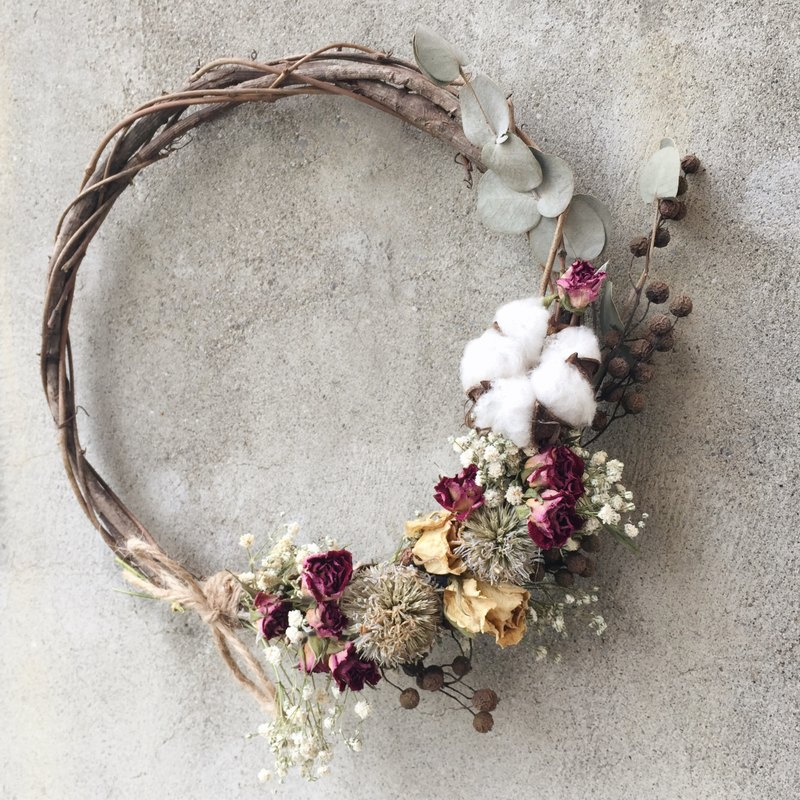 Floral design hand-dried wreath wreath wreath stock