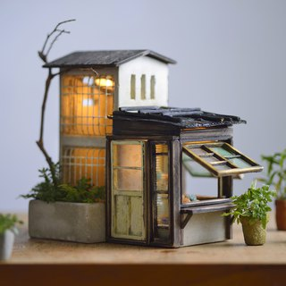 Old house lamp house creation (excluding small flowers)