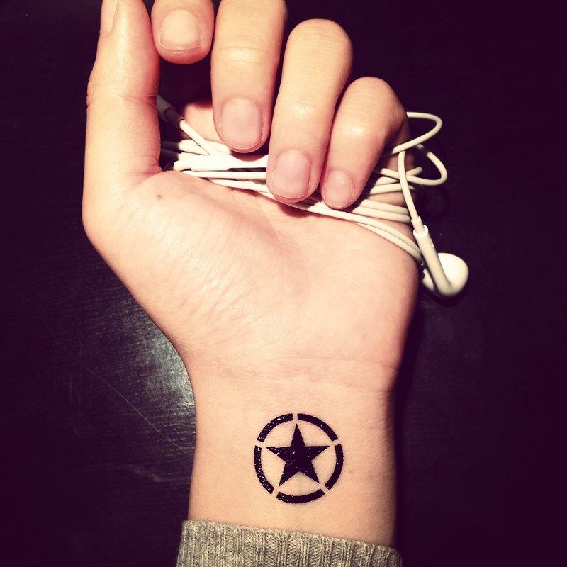 Tood Tattoo Sticker Wrist Location Pentagram Tattoo Tattoo Sticker