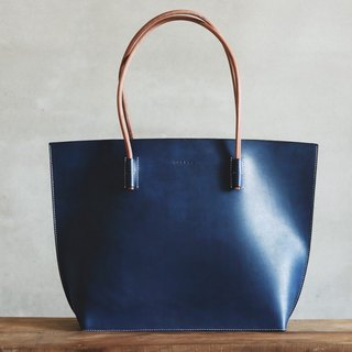HUANGS 艸一人Classic European Leather Handmade Tote Bag Minimalist Style