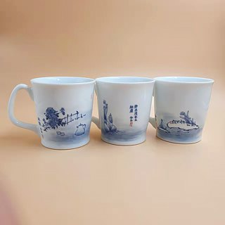 Blue and white | want to enjoy the mug