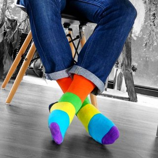 Men's Socks - Neon VII, A Todo Color - British Design for the Modern Gentleman