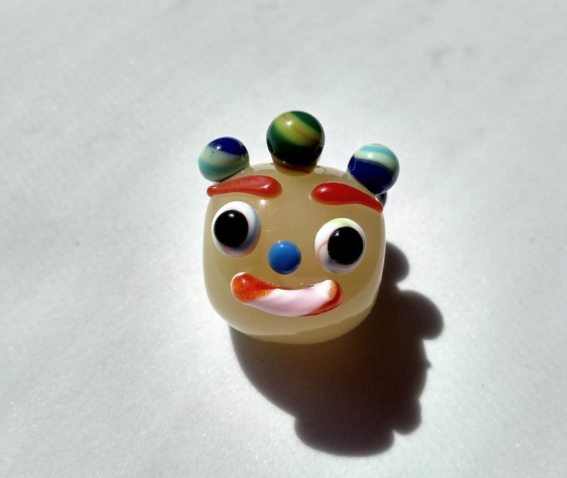 Happy face beads