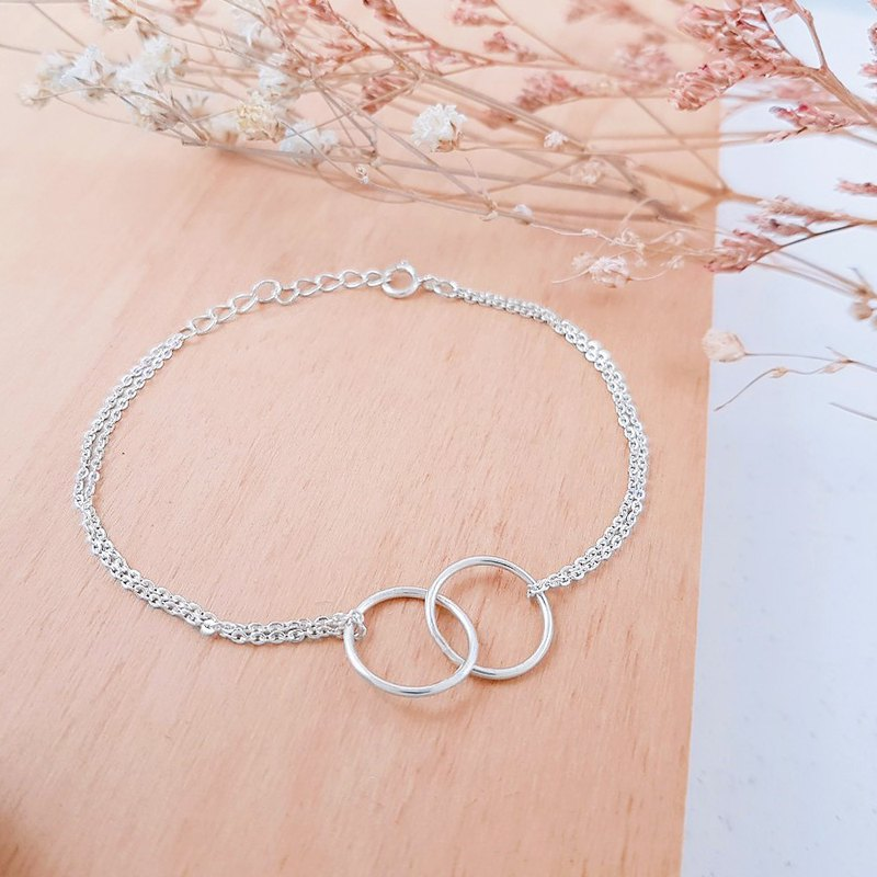 【Workshops】Metalworking Course [1 person into a group] hug you sterling silver bracelet hand made bracelet girlfriends couple gift