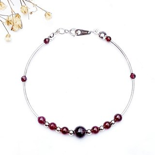 <Weekly Guardian - Tuesday> Garnet 925 Sterling Silver Bracelet Tuesday Week