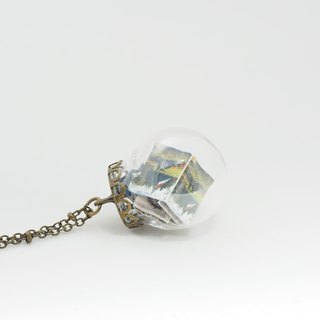 「OMYWAY」Hand Made Glass Globe Necklace - Book Necklace