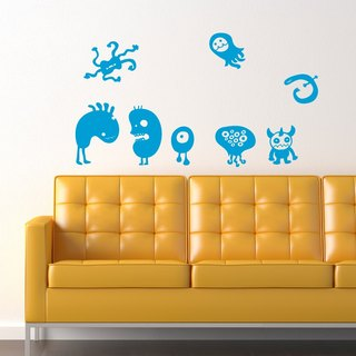 """Smart Design"" creative wall stickers Seamless monster friend ◆ 8 color options"