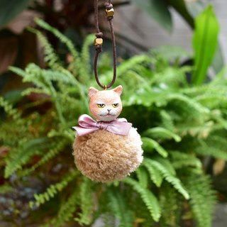 Do not cut cat copper beads long necklace