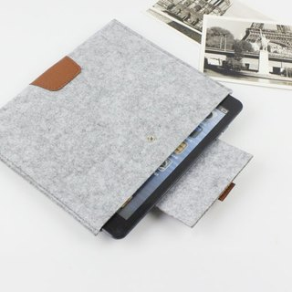 Original handmade light gray blankets Apple computer protective sleeve blankets 9.7 inch iPad Pro iPad 2017 laptop bag computer bag iPad Pro (can be tailored) - 043