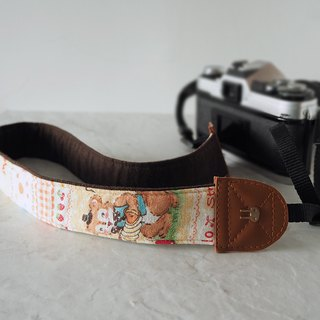 Hand-made decompression camera strap manual camera back rope camera strap (Amusement Park raging ducks) S15