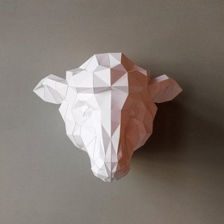3D paper model _ cotton sheep wall decoration Sheepp_DIY Kits_ hand combination