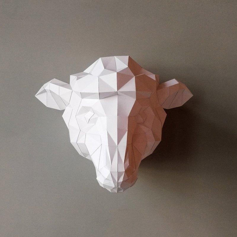 正版匠紙_DIY 材料_紙模型_禮物_手作_綿羊好Q壁飾