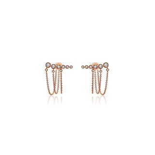 Triple Chain Diamond Earring