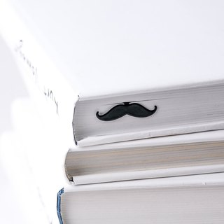 Metal Book Bookmark Moustache // Present for book lover // unique gift packaging ready to give // Free shipping worldwide