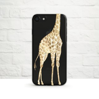 Giraffe is too Tall, Clear Soft Case, Clear Soft Case, iPhone X, Samsung