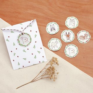 Forest Animal Stickers Set - Animal Wreath
