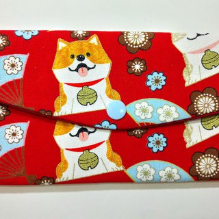 Lucky double red envelope bag / passbook storage bag (13 Shiba Inuwang)