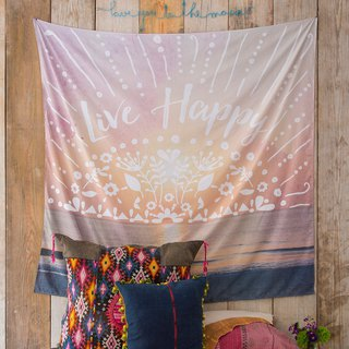 Wall decoration tarpaulin / alcove - Live Happy ∣TPST007