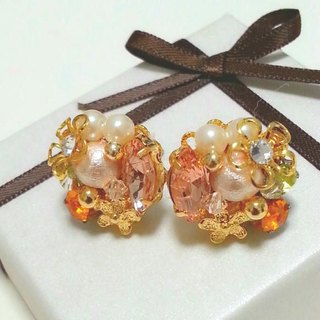 Bijou bouquet earrings (earrings) orange