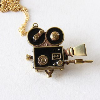 Vintage Movie Camera Charm Necklace - Handmade Jewelry - September Room