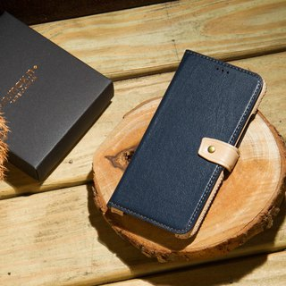 iPhone X Classic Handbag Series Leather Case - Navy