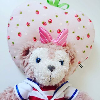 Bonbon baby double-sided strawberry gauze pillow