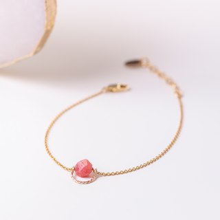 ARGENTINA Bracelet with natural Rhodochrosite gemstone and 14k Gold-Filled daint