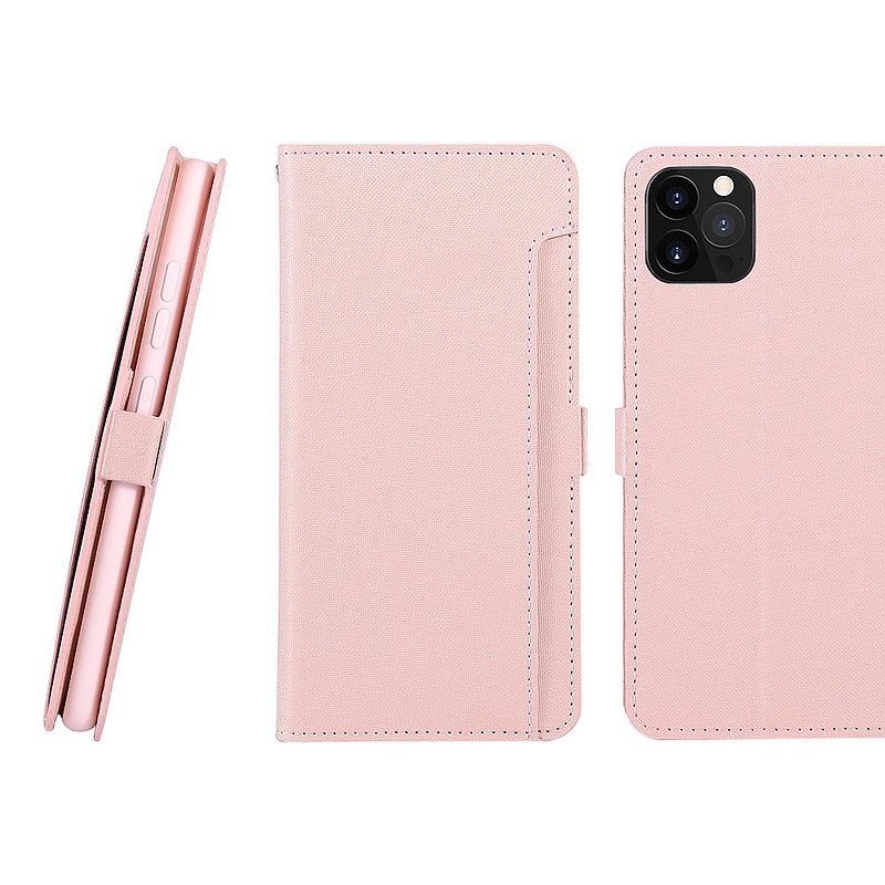 CASE SHOP iPhone 12/12 Pro dedicated front storage side flip leather case-pink