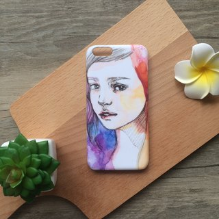 Romance Modern Girl illustration. Matte Case (iPhone, HTC, Samsung, Sony)