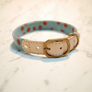 Dog Collar L No. Bean Bean Coffee Beans Japan cloth can add hangtag gift 14mm flower bell