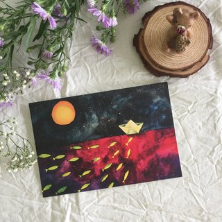 """Starry Night"" series - ""a"" postcard"