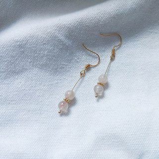 Ethereal Strawberry Crystal Earrings