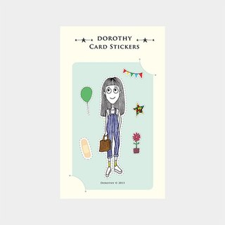Dorothy waterproof ticket Stickers - suspenders Girl (9AAAU0020)