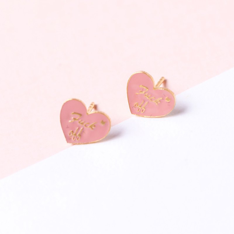 fuck off ear pin ear clip star festival valentines day