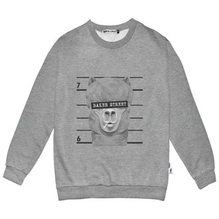 British Fashion Brand -Baker Street- No Good Printed Sweater