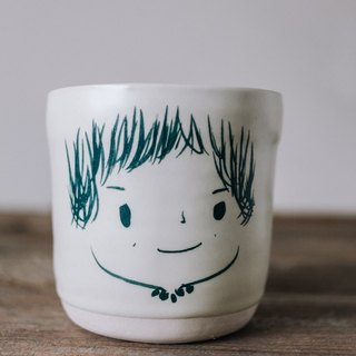 Brut Cake Handmade pottery - smiling mug 280ml-4 (12/31/2016 before buying comes Kofu coaster a)