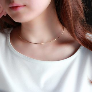 14kgf- dainty choker cuff necklace