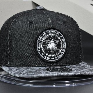 Hexagon magic symbols black cowboy hat bodies / charcoal cap eyebrow