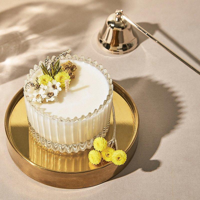 MAYBES  |  白透感乾燥花精油香氛大豆蠟燭 75g