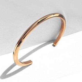 Thin Bevel Cuff Bracelet | Polish Rose Gold