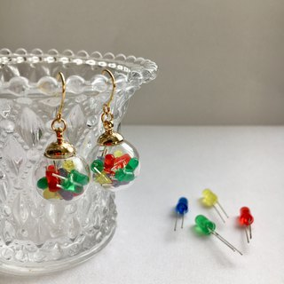 【Electronicpasts】Glass dome in mini LED Earrings