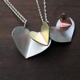 Heart-moving poem 2018 latest heart-shaped 925 sterling silver handmade pendant necklace, Valentine's Day / birthday gift