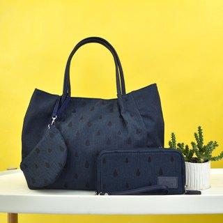 goody bag -Tote and Wallet dark blue set