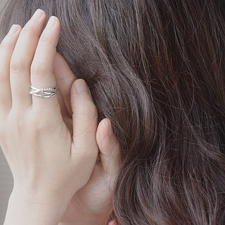 Around (Pure Silver Ring Silver) ::C% Handmade Jewelry::