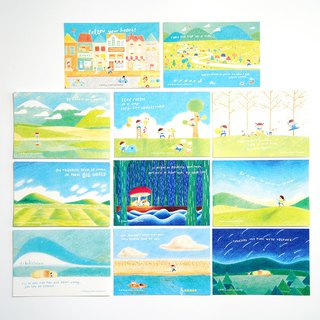 Traveller Postcard Set 5
