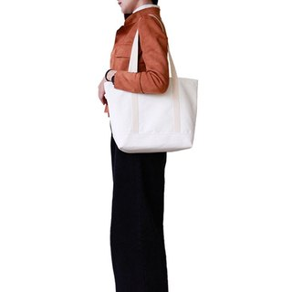 [Early Spring Shoulder Bag] - Pure White Canvas