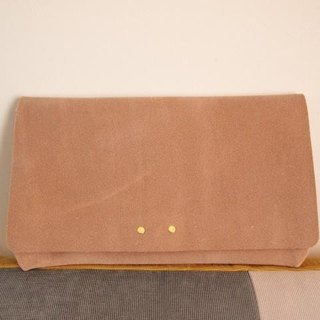 【Build-to-order】 Floor leather clutch bag 【Natural】 1511004