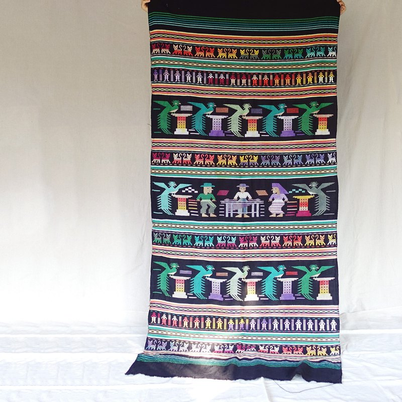 BajuTua / old things / Mexico large embroidery hand-woven