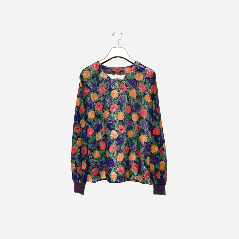 Dislocated vintage / wave flower top no.1284 vintage