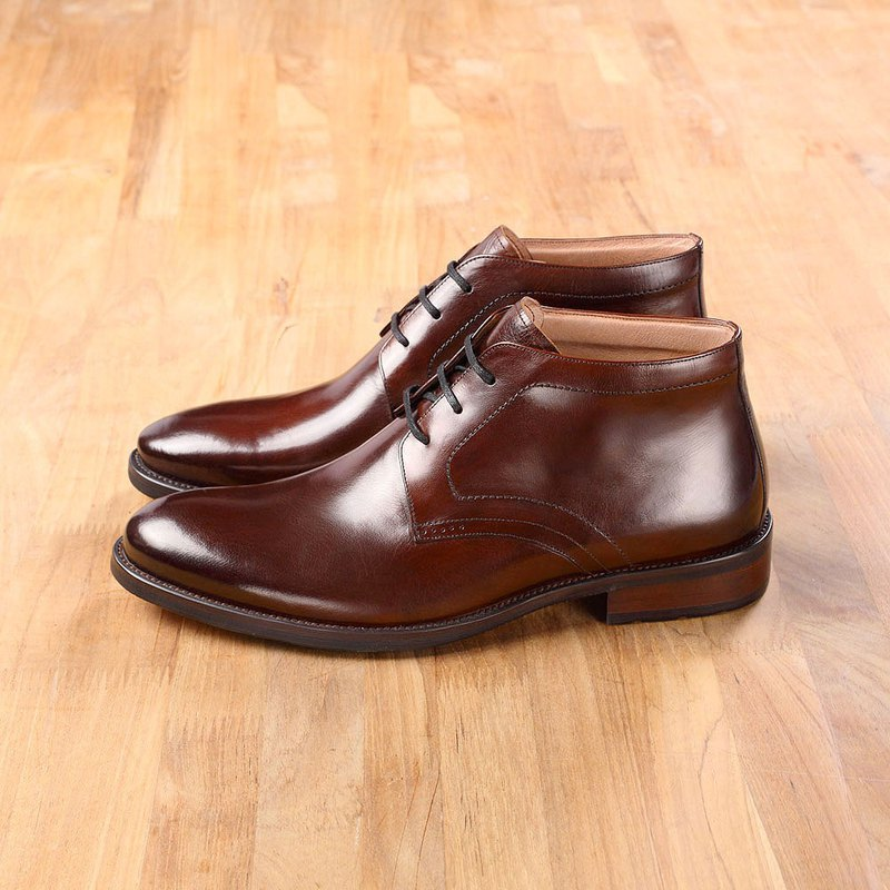 Vanger will style calm derby boots Va217 coffee